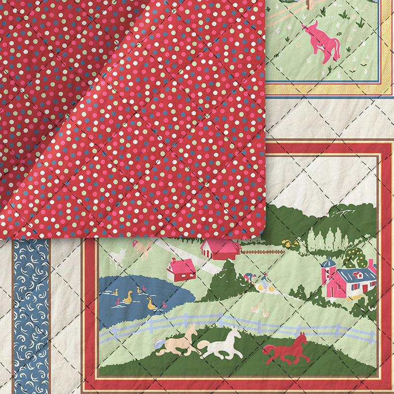 Willow Creek Pre-Quilted Fabric 120-20911 22020991/220-20941