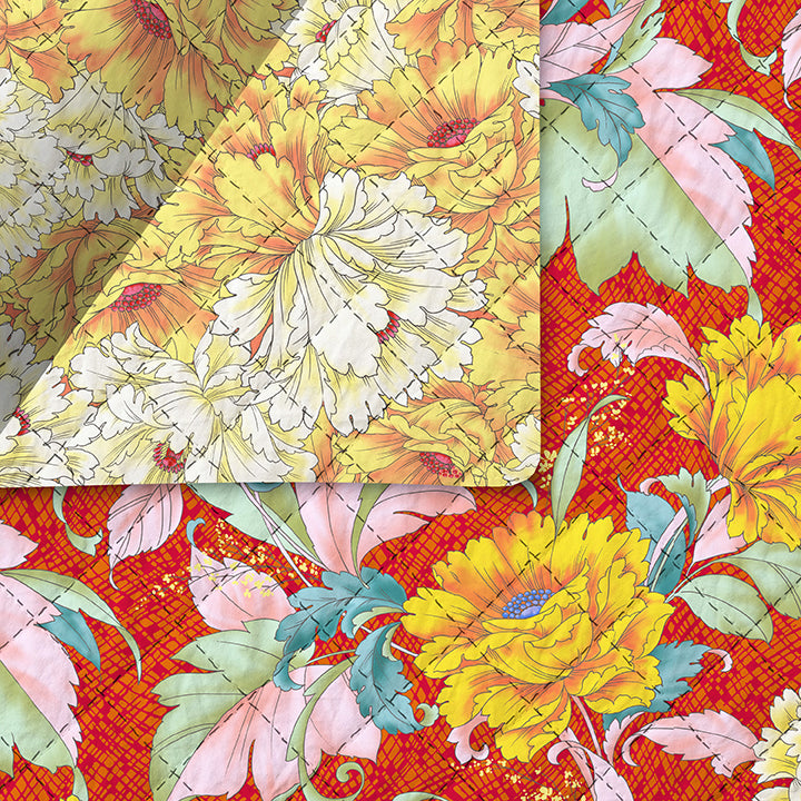 Dianthus Pre-Quilted Fabric 220-99402