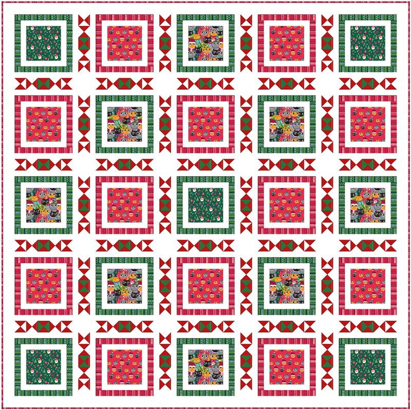 COMING SOON Free Quilt Pattern - Christmas Sweater Cats