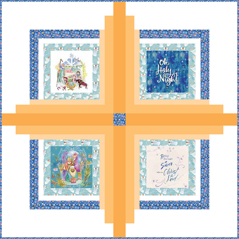 Free Quilt Pattern -  Holy Night