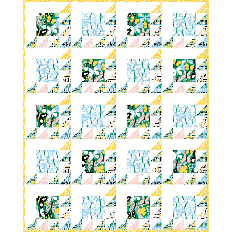 Free Quilt Pattern -  Butterflies in a Row
