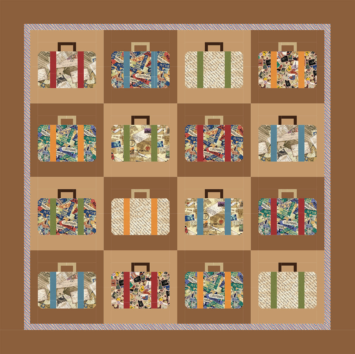 Dear Friends Suitcase Quilt Pattern