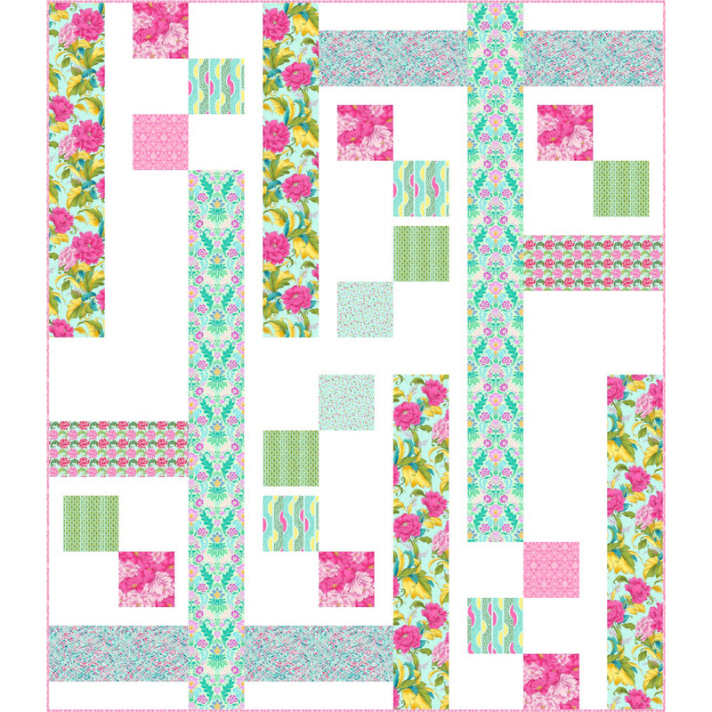 """Trellis-Dianthus"" Free Pattern designed by Pine Tree Country Quilts from Paintbrush Studio"