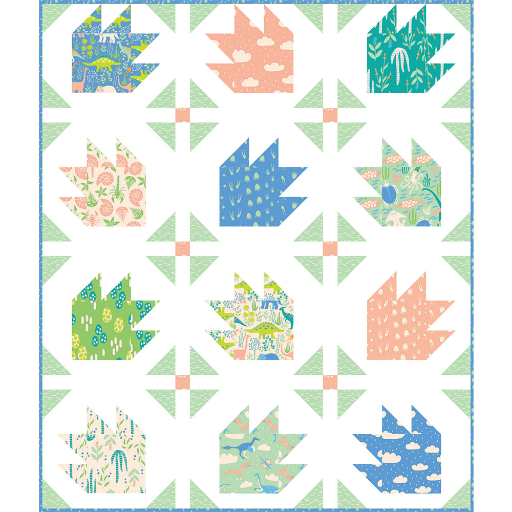 Free Quilt Pattern - Dino Tracks