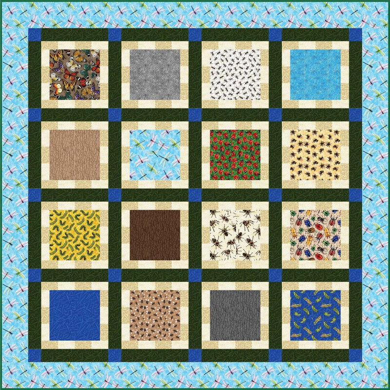 """EEK"" Free Easy to Sew Quilt Pattern designed by Jessica Toye from Paintbrush Studio"