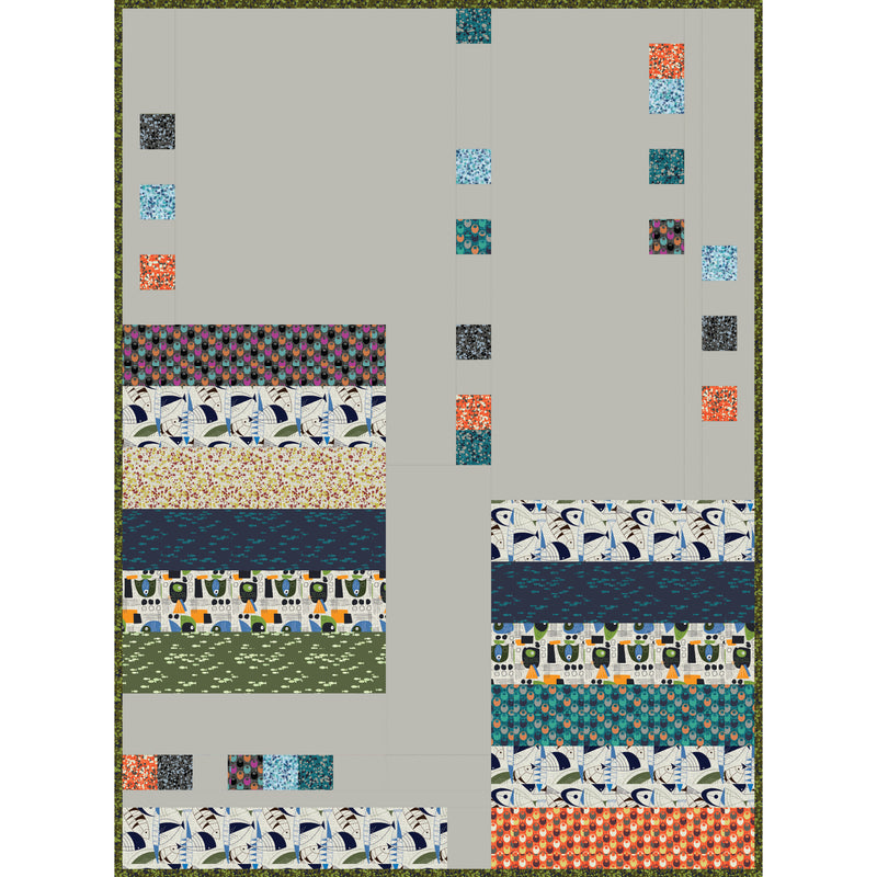 """Fish Hope"" Free Easy to Sew Quilt Pattern designed by Hoodie Crescent from Paintbrush Studio"