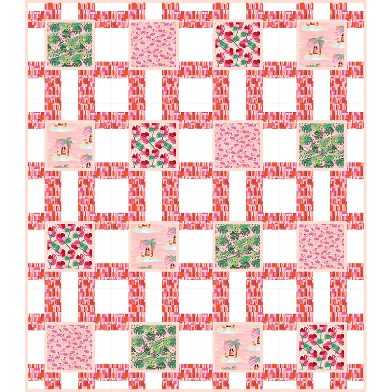 """Holiday in a Box"" Free Christmas Quilt Pattern designed by Lisa Swenson Ruble from Paintbrush Studio"