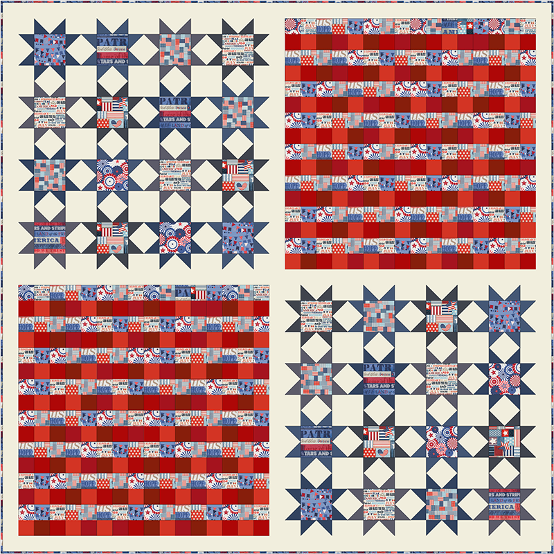 COMING SOON Free Quilt Pattern -  Fourth of July