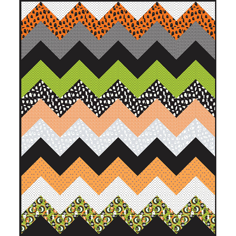 Free Quilt Pattern - Spooky Spikes