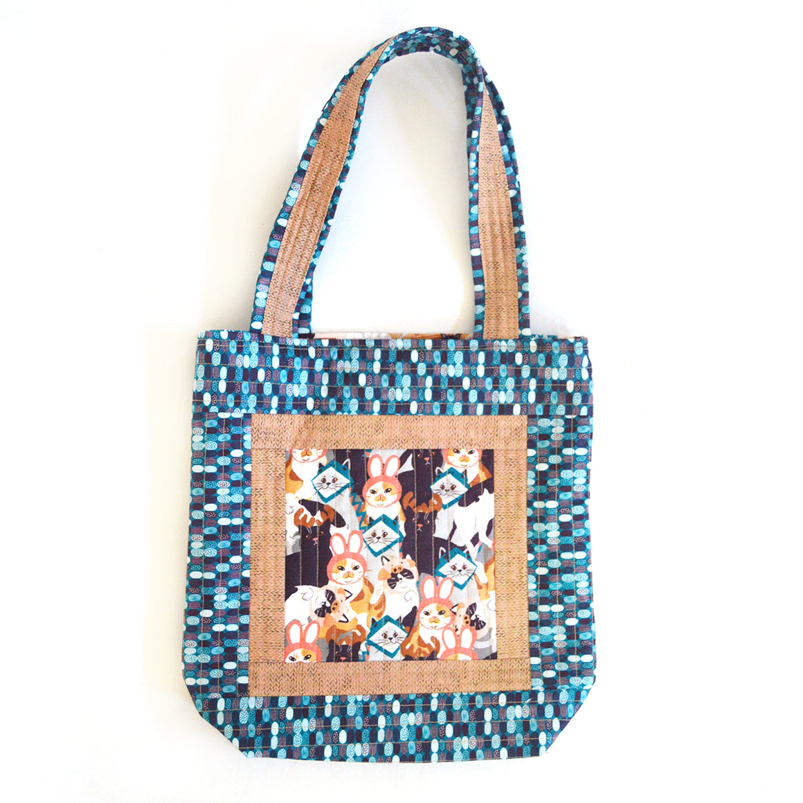 """Cat's Meow Tote"" Free Pattern designed by & from Paintbrush Studio Fabrics"