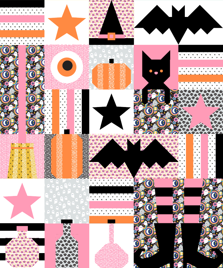 Quilt Pattern -  Hocus Pocus by Corinne Sovey