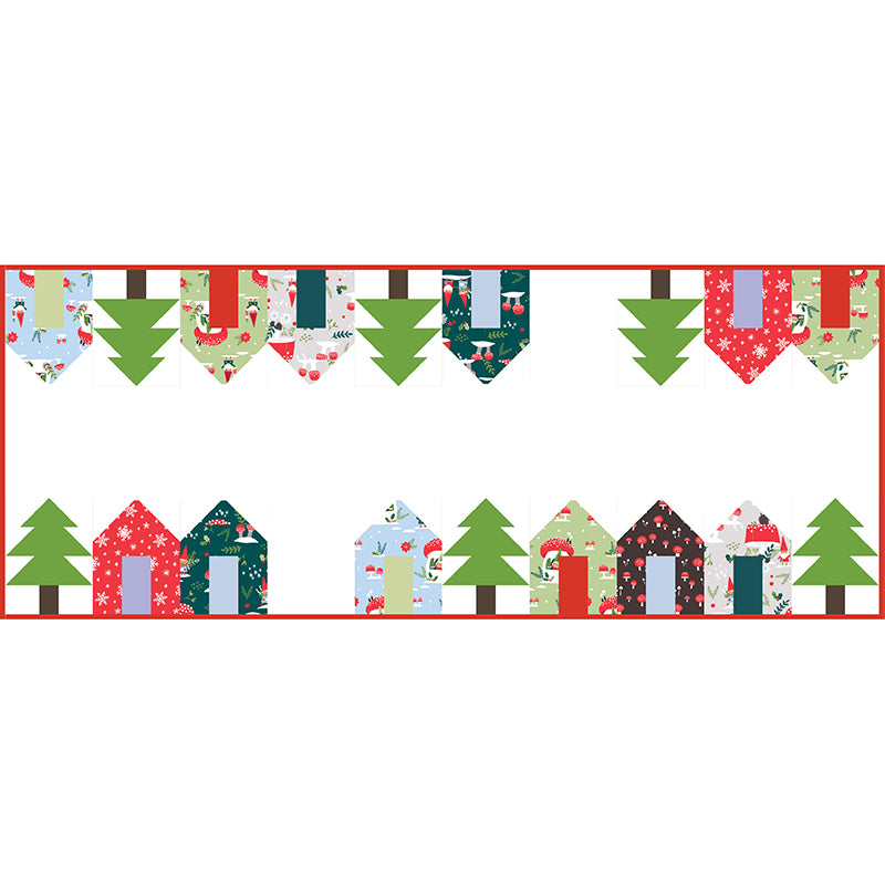 Quilt Pattern - Holiday Lane Table Runner by Cluck Cluck Sew