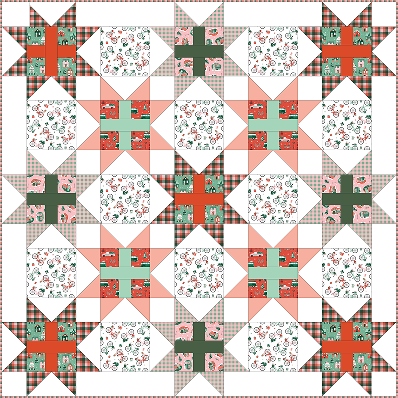 Free Quilt Pattern - Home for Christmas