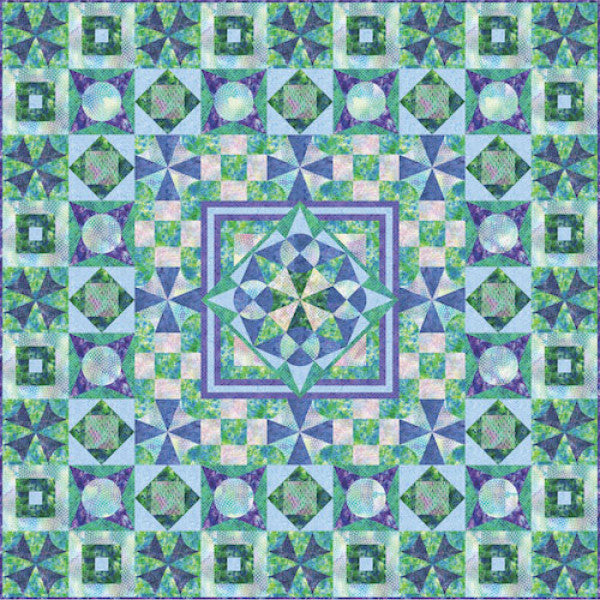 Freeform Compass Quilt by Paintbrush Studio Fabrics