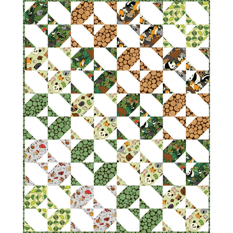 """Menagerie Animal Forest"" Free Pattern designed by Lisa Swenson Ruble from Paintbrush Studios"