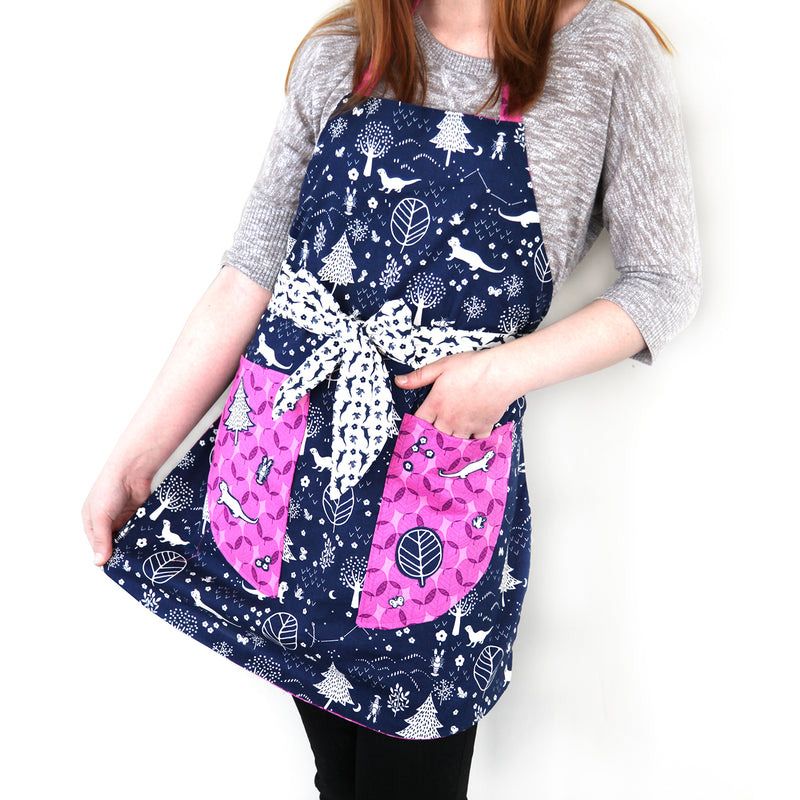 """Mod Apron"" Free Pattern designed by and from Paintbrush Studio Fabrics"