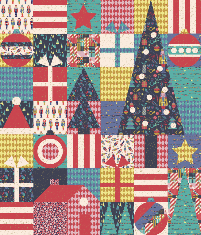 Quilt Pattern -  Christmas Cheer by Corinne Sovey