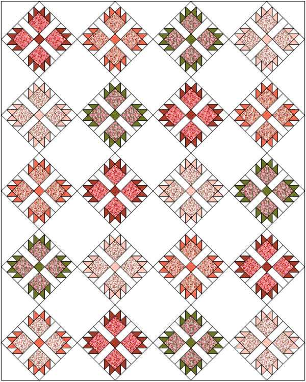 Free Quilt Pattern -  Rose Among The Thorns