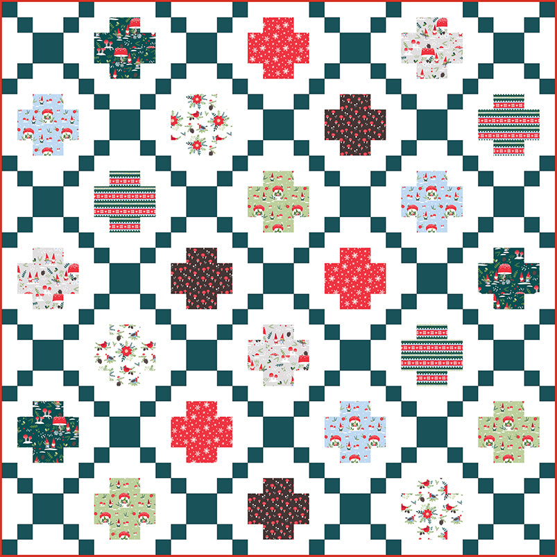 Quilt Pattern - Modern Crossing by Patchwork and Poodles