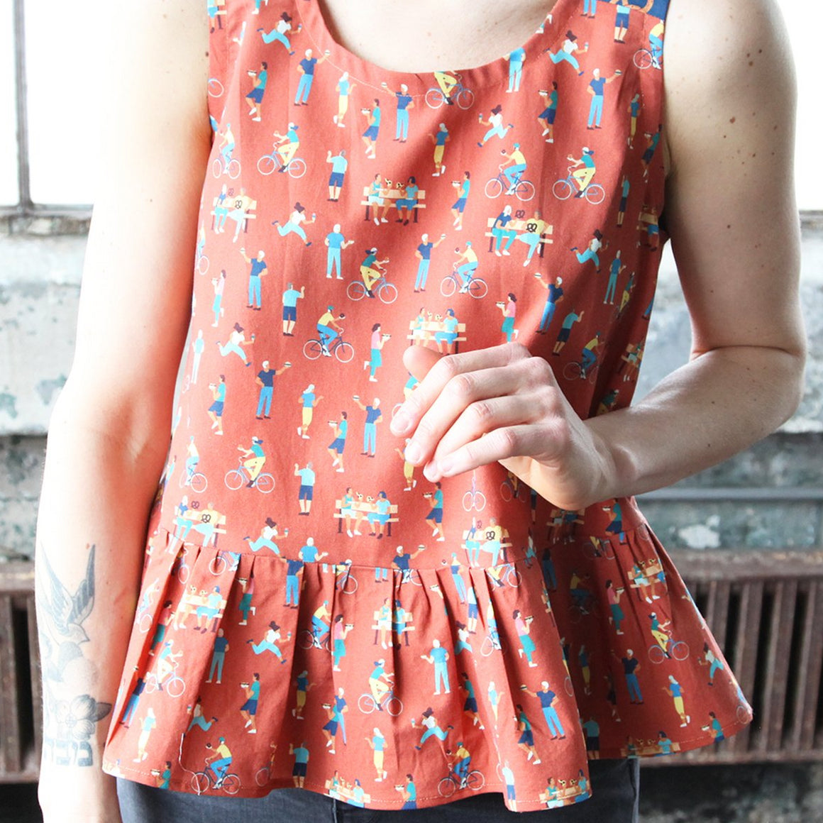 Free Peplum Top Pattern by Peppermint Magazine