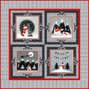 Red + Grey Christmas Quilt Pattern