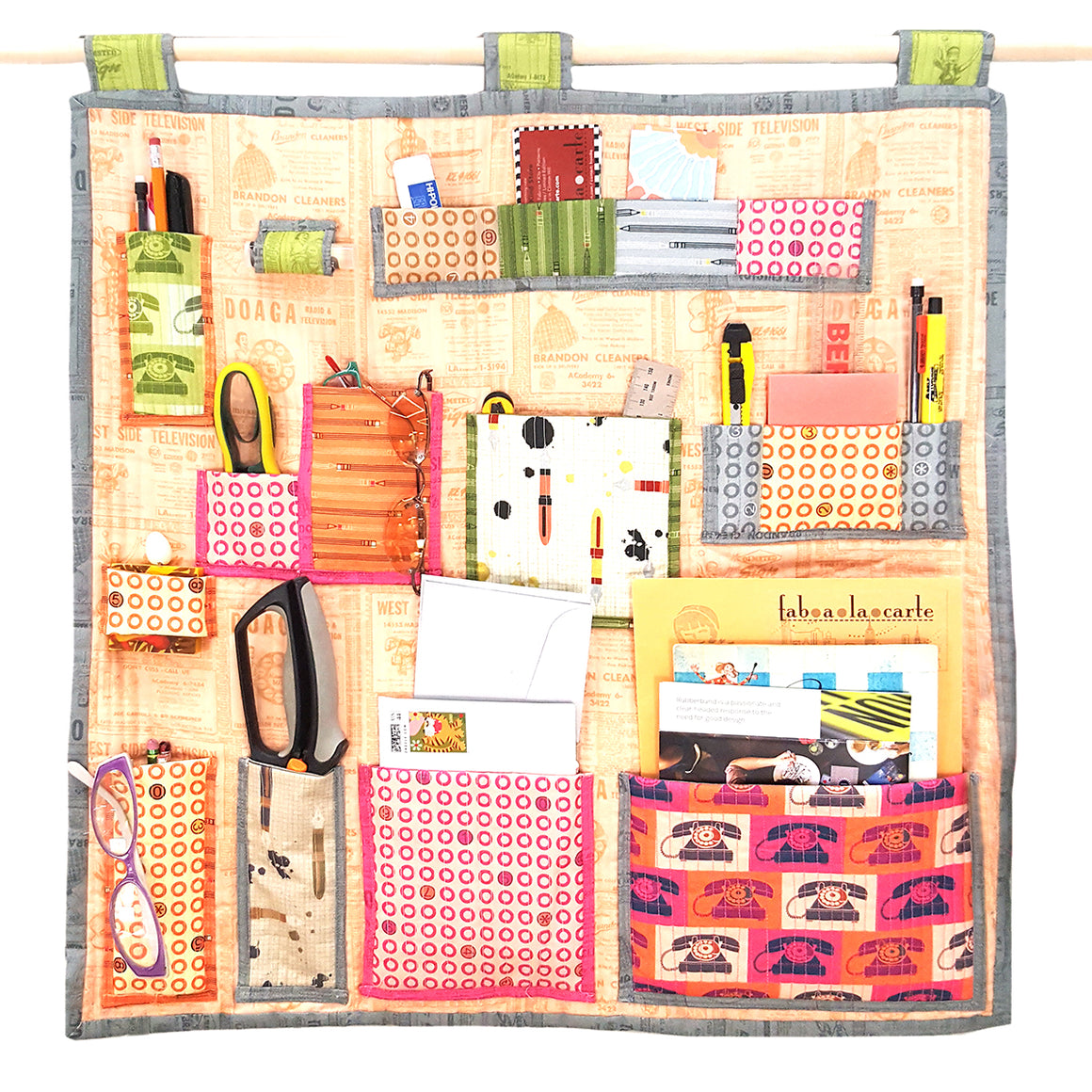 Notebook Cover + Hanging Wall Organizer Pattern Bundle