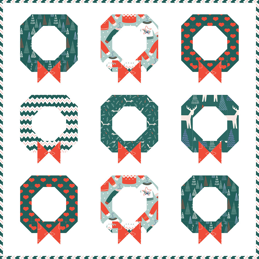 Free Quilt Pattern - Wreaths on the Wall