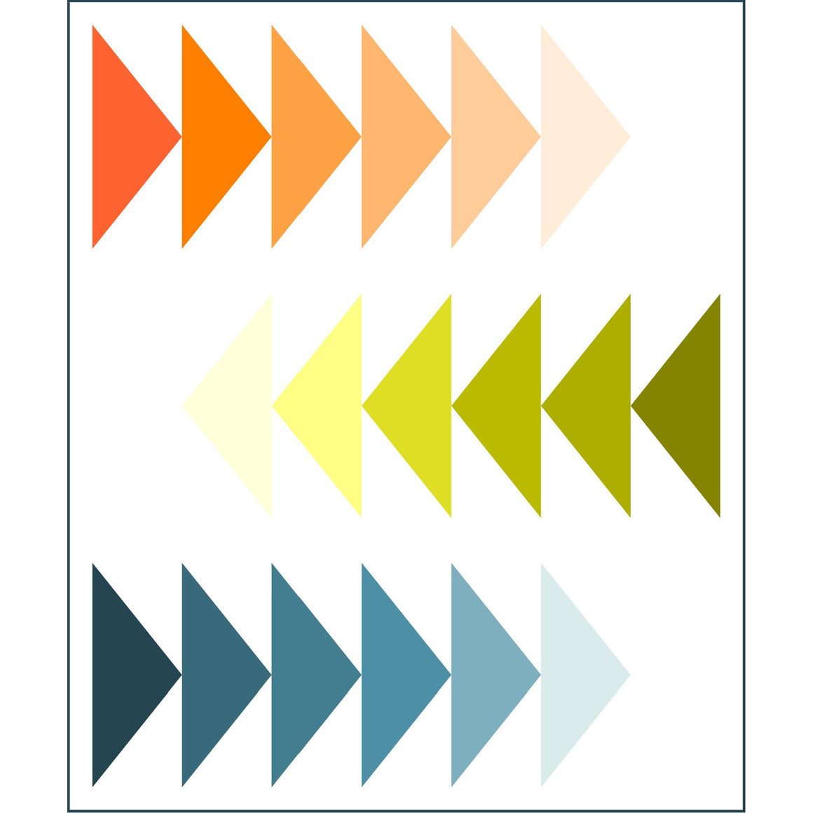 Sliding Geese Pattern - Painter's Palette Solids™