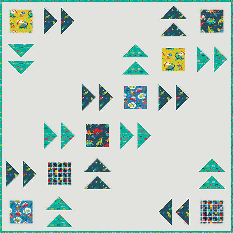 COMING SOON Free Quilt Pattern -  Super Dinos