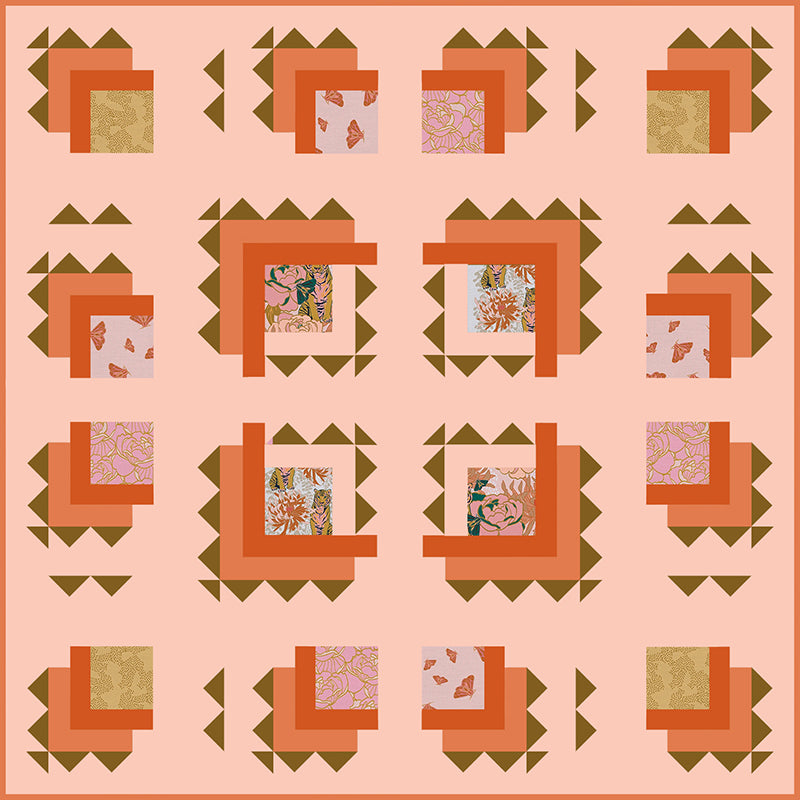 Free Quilt Pattern -  Tiger Lily Trail