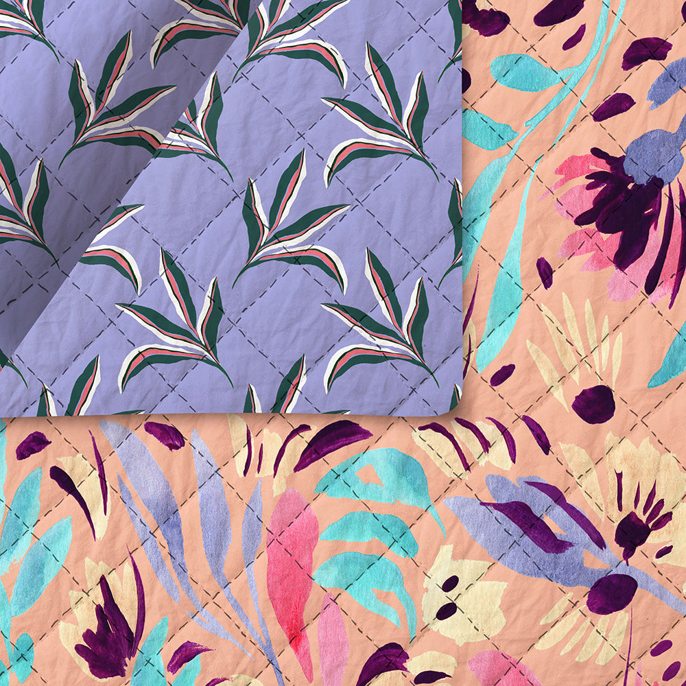 Urban Jungle Pre-Quilted Fabric 220-19821/220-19744