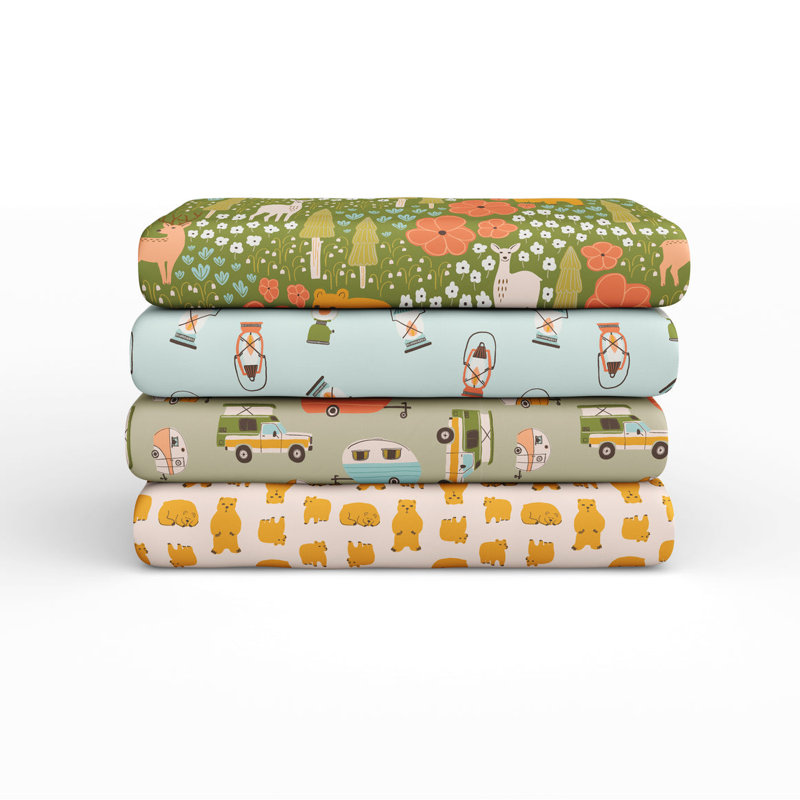 Vintage Camping Fat Quarter Bundle - 120FQVCAMP