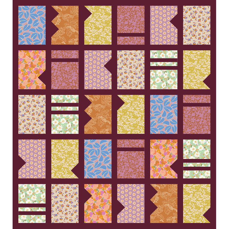 COMING SOON Free Quilt Pattern -  Window Blooms
