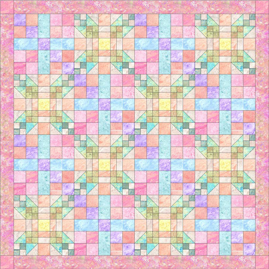 Pastel Star Pattern- Marblehead Pleasing Pastels by Ro Gregg