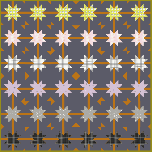 Quilt Pattern -  Meteor Shower by the.weekendquilter