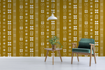 Mustard Mudcloth - Peel & Stick Wallpaper