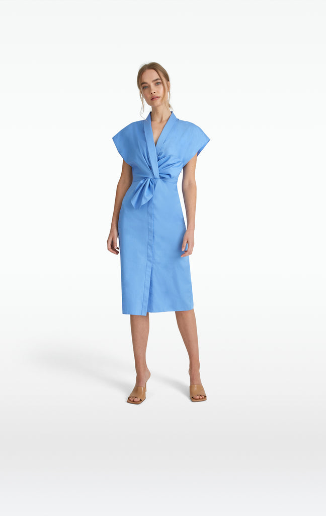 Calianne Safiyaa Blue Cotton Dress