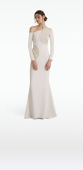 Beatrice White Sand Long Dress
