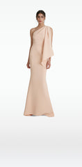 Elvie Peach Long Dress