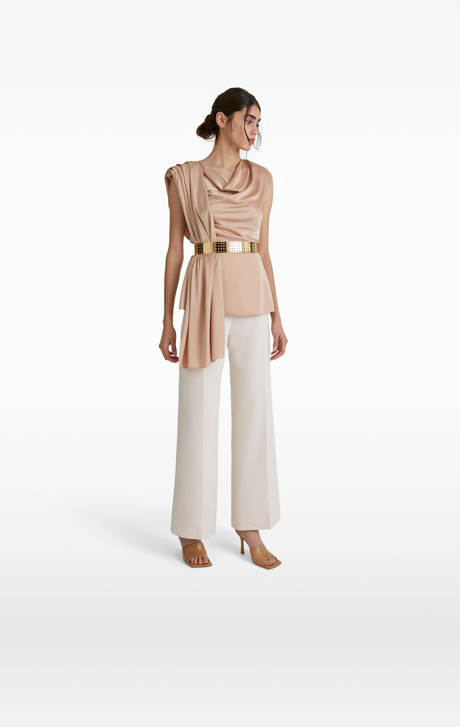 Patti White Sand Trousers