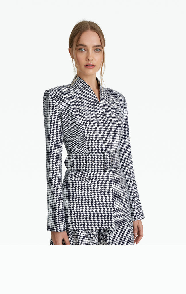 Heather Houndstooth Jacket