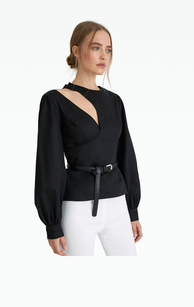 Kyla Black Cotton Shirt