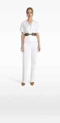 Goldie White Denim Trousers