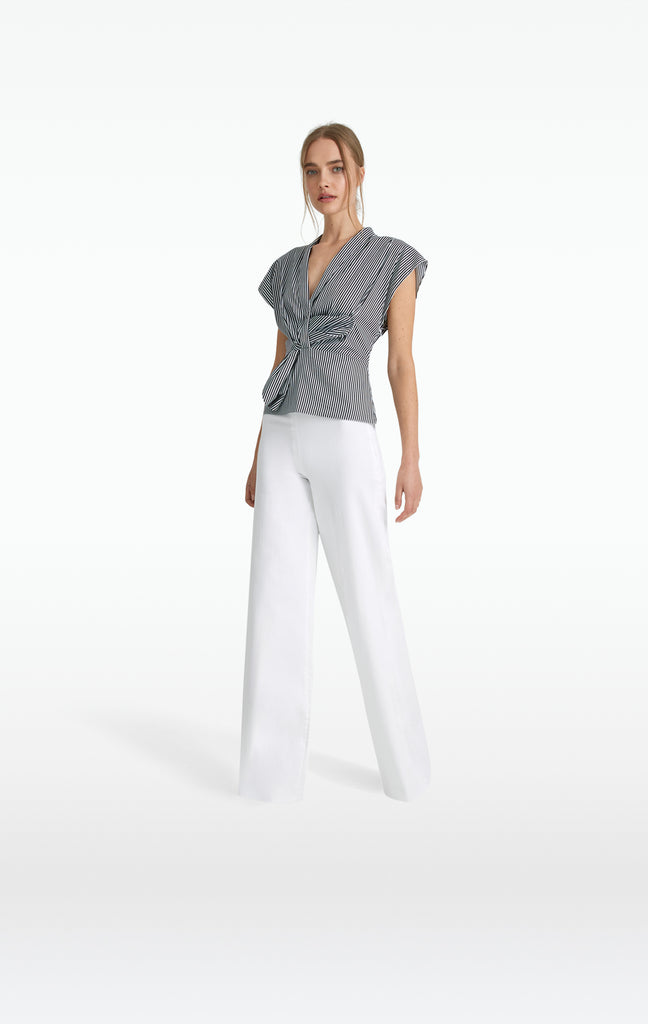 Audree White Denim Trousers