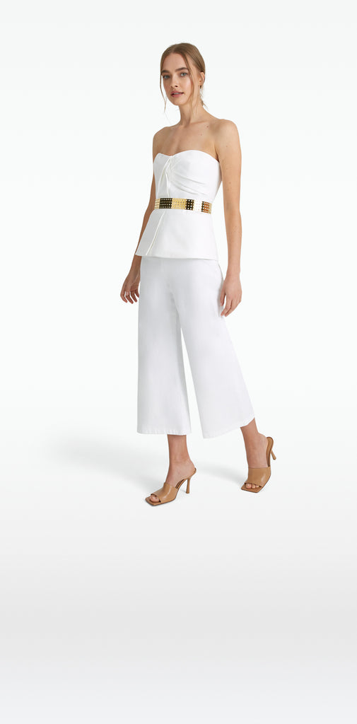Patti White Denim Trousers