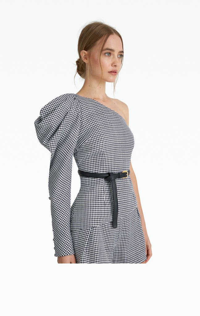 Audrey Houndstooth Top
