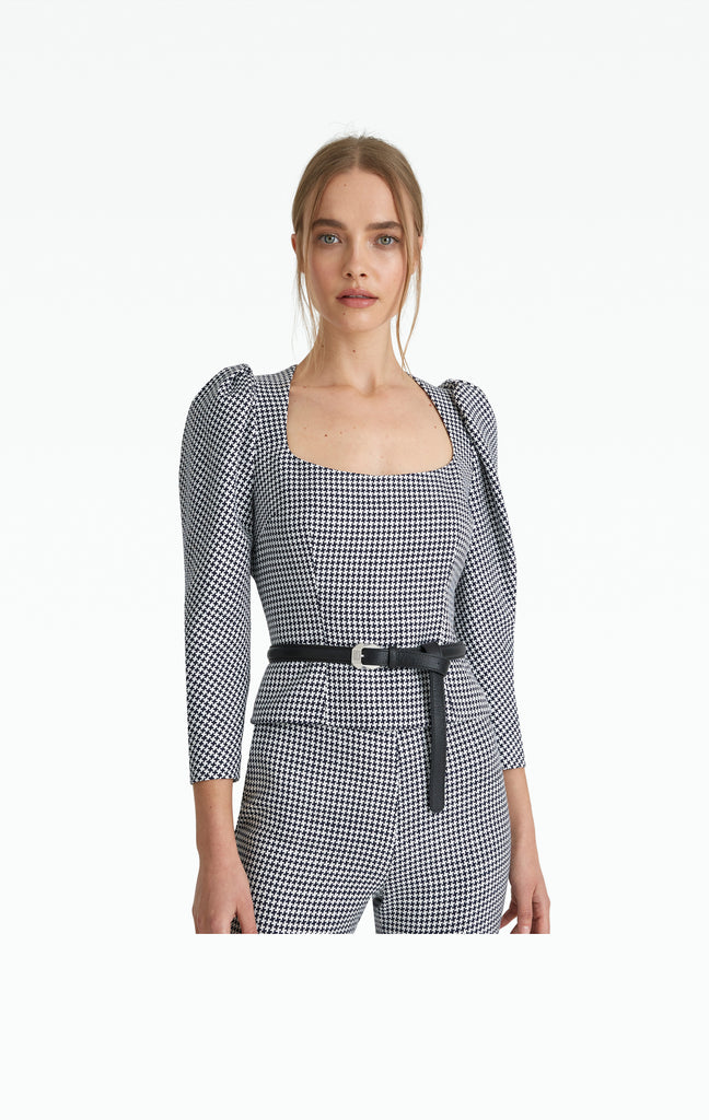 Georgia Houndstooth Top
