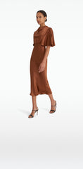 Miranda Cognac Dress