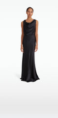 Uma Black Long Dress