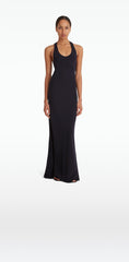 Naomi Navy Long Dress